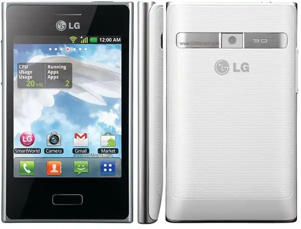 LG E400 Optimus L3 white