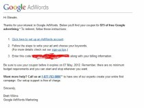$75 Free Google Adwords coupon code for youtube video advertising