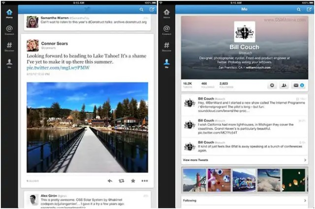 New Twitter for iPad