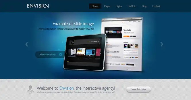 Envision WordPress Theme from ThemeFuse in TechAtLast Contest 2013