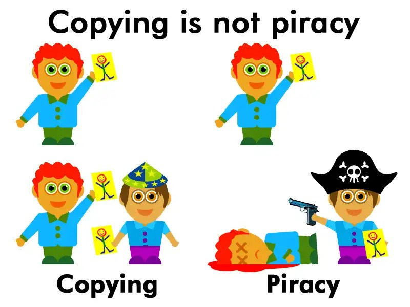 Copying is not piracy campaign