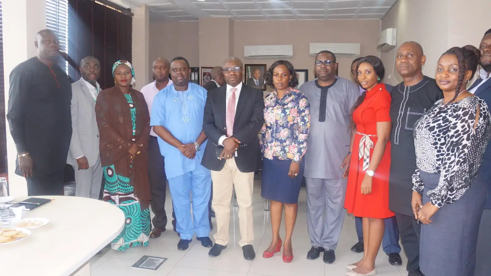 Cross section of NITDA's staffs and partners at the media chat with Lagos based online media and bloggers.