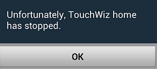 """Fix """"Unfortunately, Touchwiz Home has stopped"""" error on Galaxy S5"""