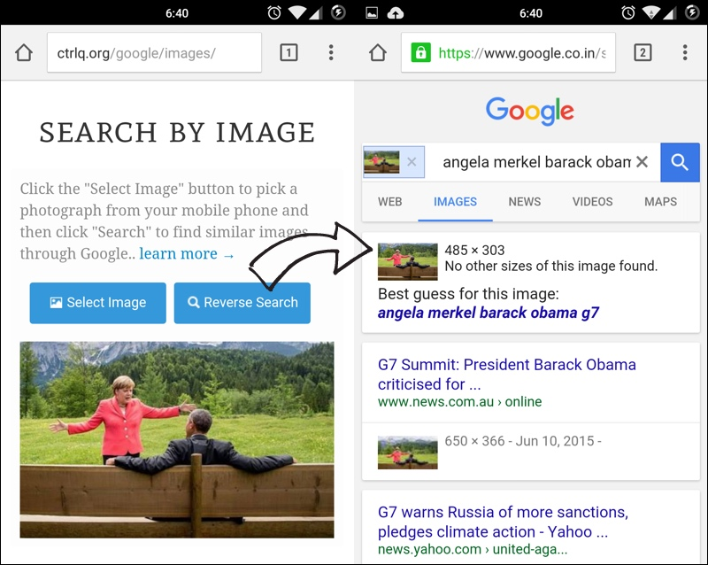 Mobile phone video search engine query