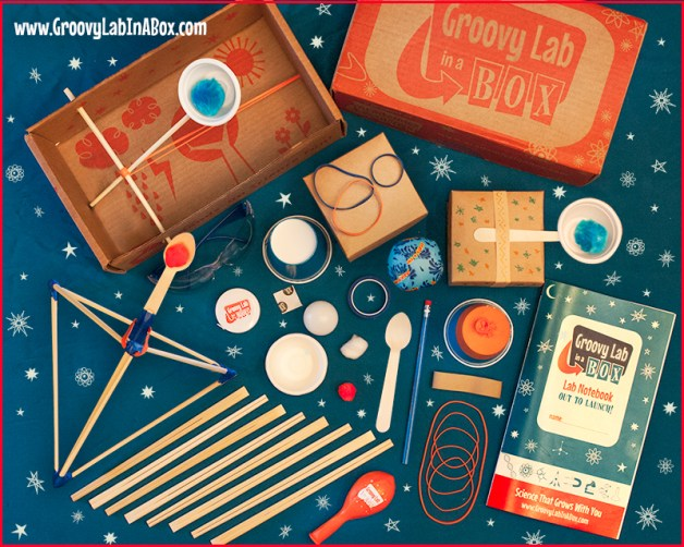 Picture of a Groovy Labs in a Box Kit for TechBrainiacs STEM Subscription Boxes for Kids