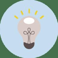 Light Bulb Icon Light Blue