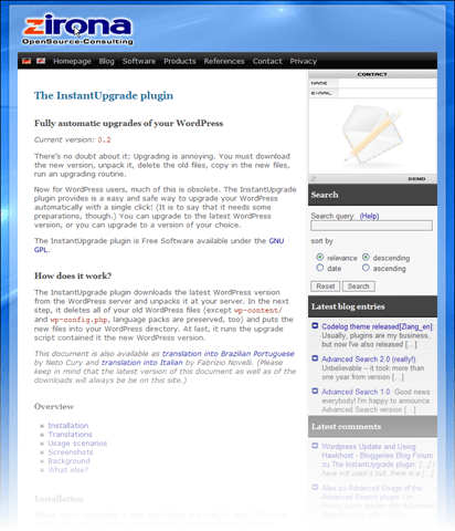 One-Click WordPress Upgrading