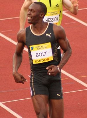 English: Usain Bolt Crystal Palace Meeting in ...