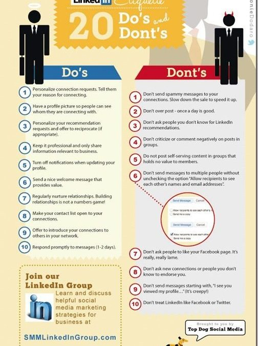 20 LinkedIn Etiquette Do's and Don't
