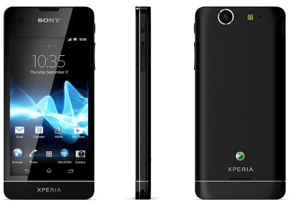 Το Sony Xperia SX σε μαύρο