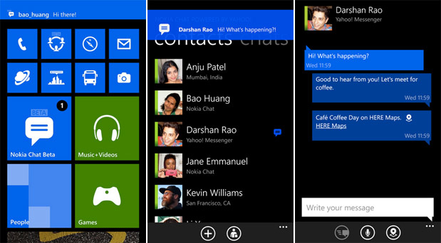 Nokia Chat beta for Windows Phone 8