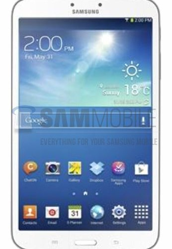 Galaxy Tab 3 8.0 leak