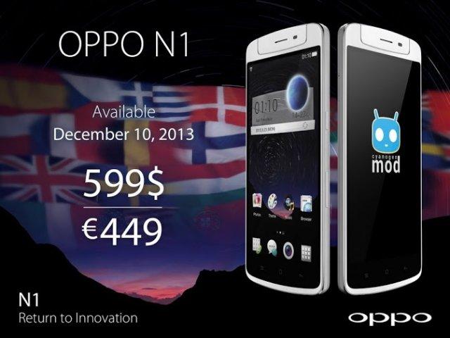 Oppo N1 Availability