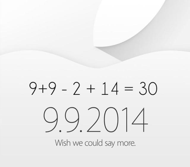 Apple September 2014 Invite Date