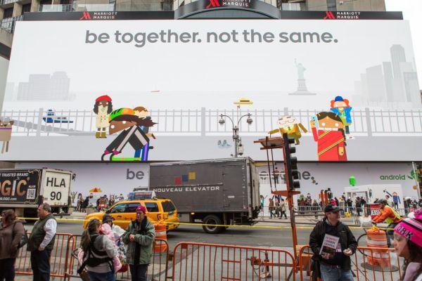 Google's massive Android billboard ad