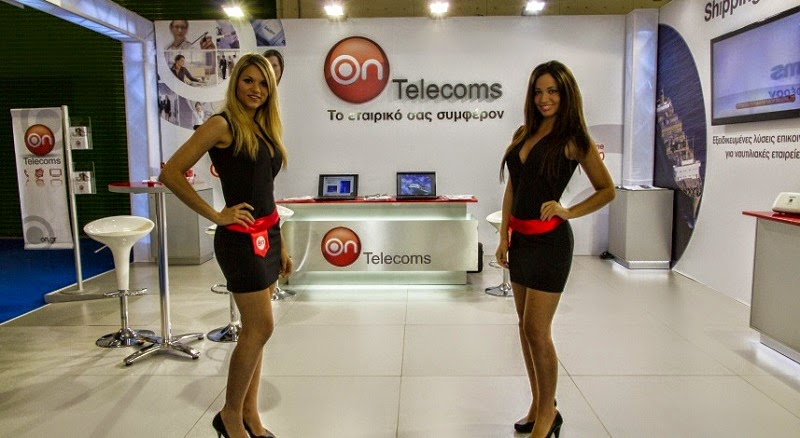 On Telecoms booth