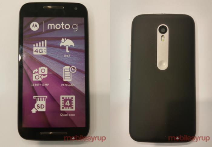 Motorola Moto G (2015) leak