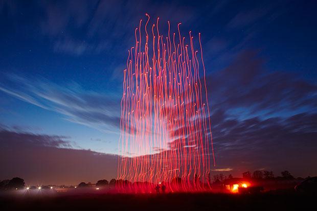 Intel 100 drone light show