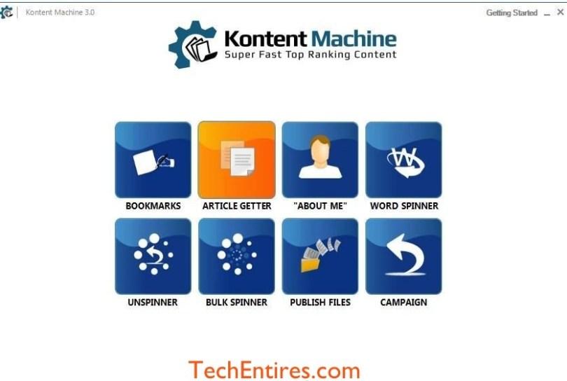 Kontent Machine Software