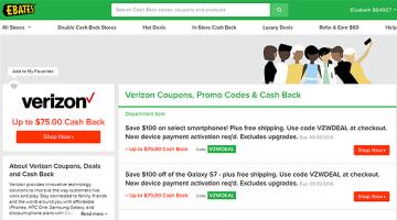 Ebates Cashback and Verizon Wireless