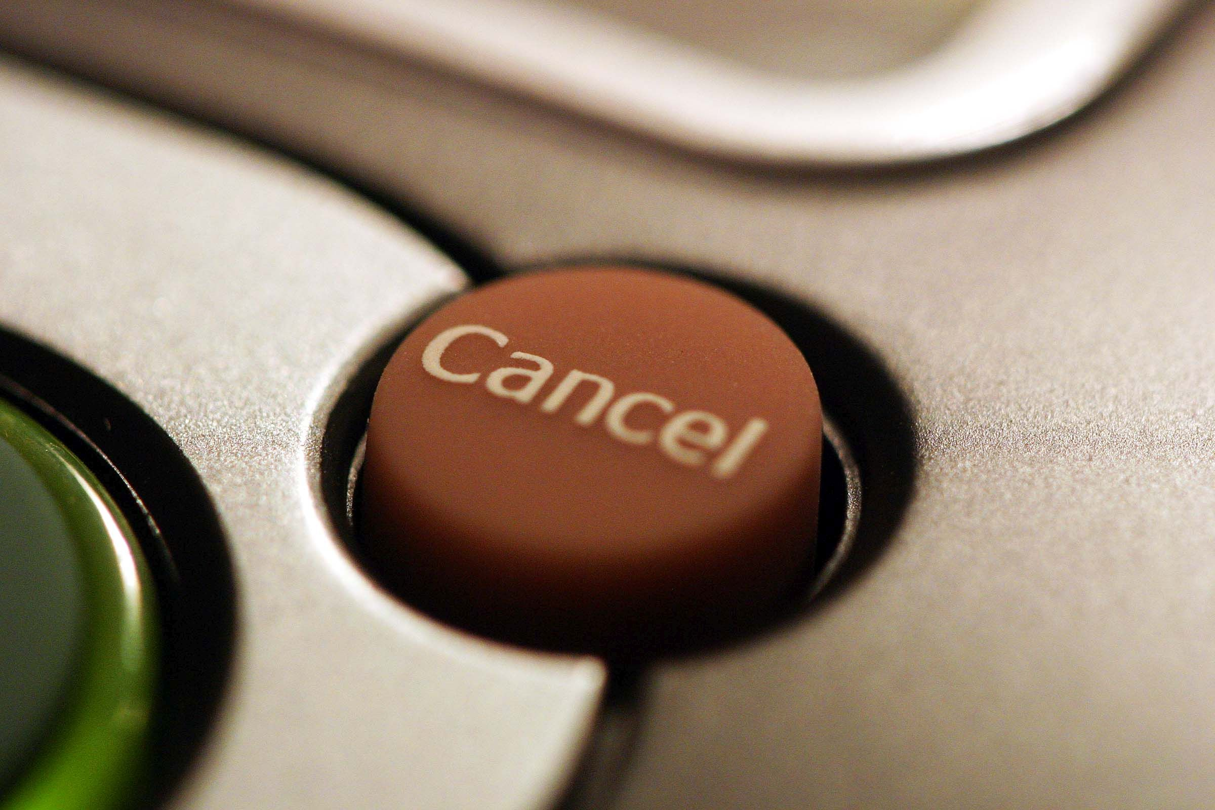 Cancel cloud computing service