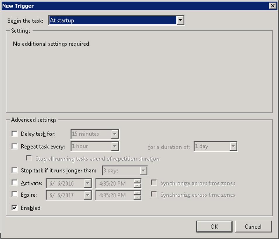 New trigger for VirtualBox