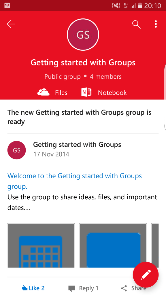 Groups Mobile
