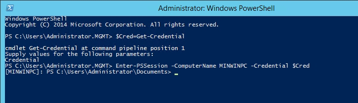 Remote connecting to Nano Server through a PowerShell session