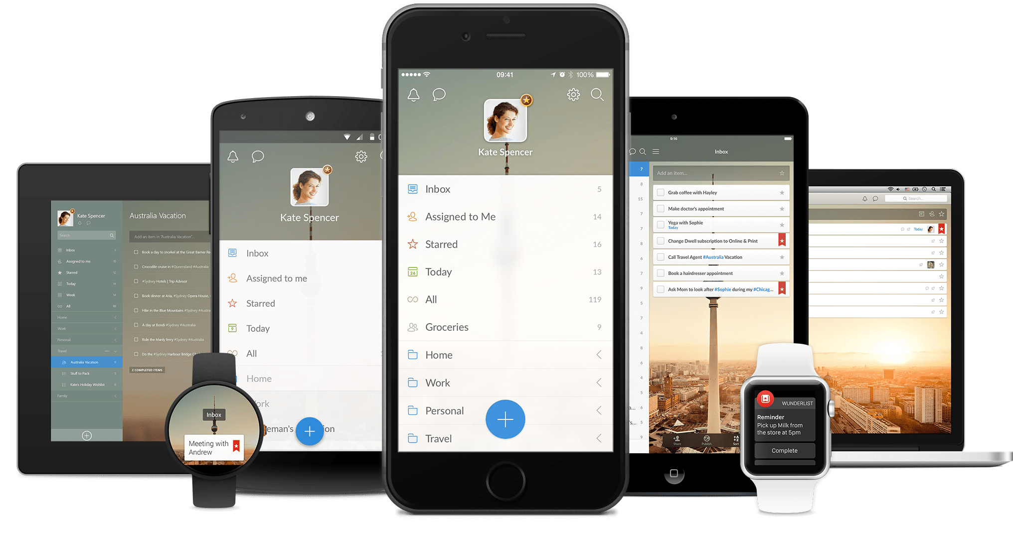 Wunderlist is available on nearly every modern browser and operating system.