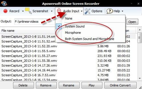 audioinput