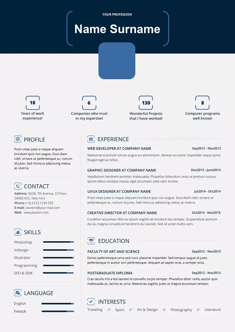 ms word resume cv templates bundle