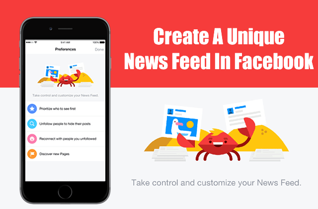 Facebook's New Feature – Control & Customize Your News Feeds