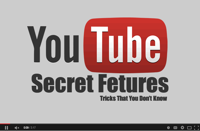 Secret Features Of Youtube → Some YouTube Tricks That You Don't Know
