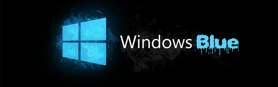 windows blue banner