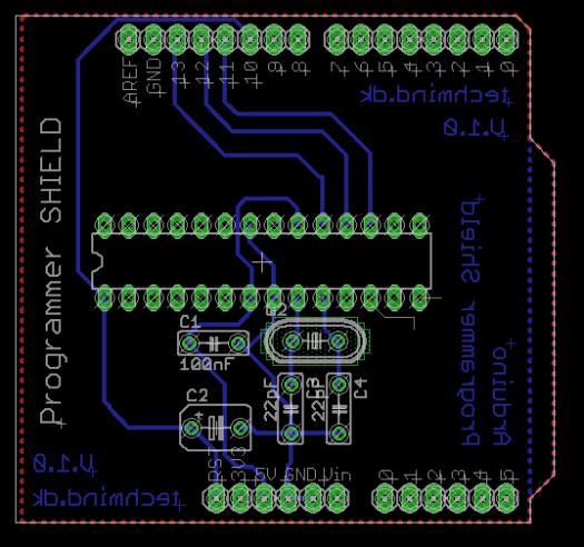 arduino isp printed circuitboard