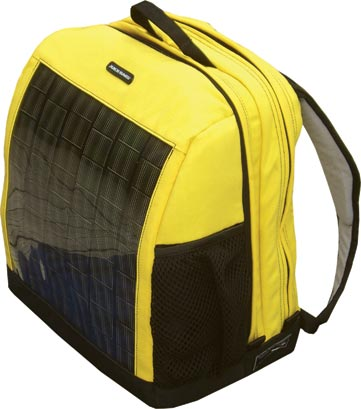 taske der kan oplade smartphone med solceller