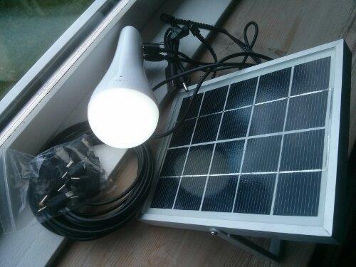 solcelle LED lampe med lifepo4 batteripakke