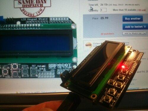 keypad og lac på arduino shield