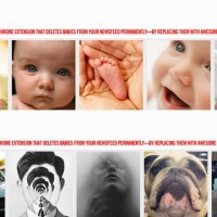 Remove baby photos from your newsfeed with Unbaby.me plug-in