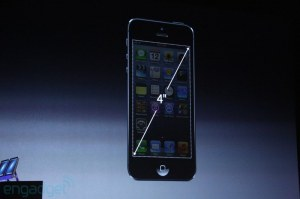 The iphone 5 has a 4 inch screen measured diagonally