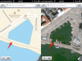 Missing inlet in iOS maps