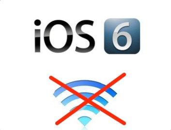 iOS 6 users report having WiFi problems