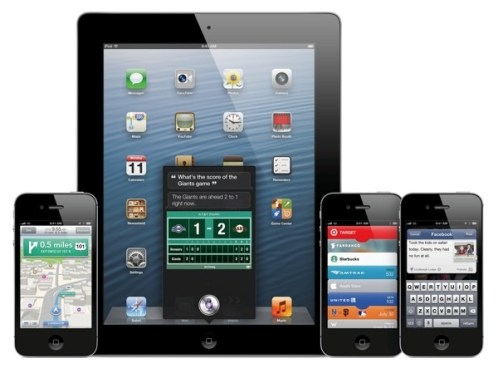 iOS 6 running on Apple devices