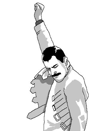 Freddie Mercury win pose
