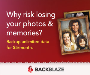 Backblaze: Why risk losing your files. Backup unlimited data for $5/month