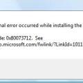 Windows Update Error 0x80073712