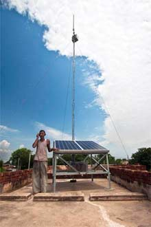solar powered cell tower