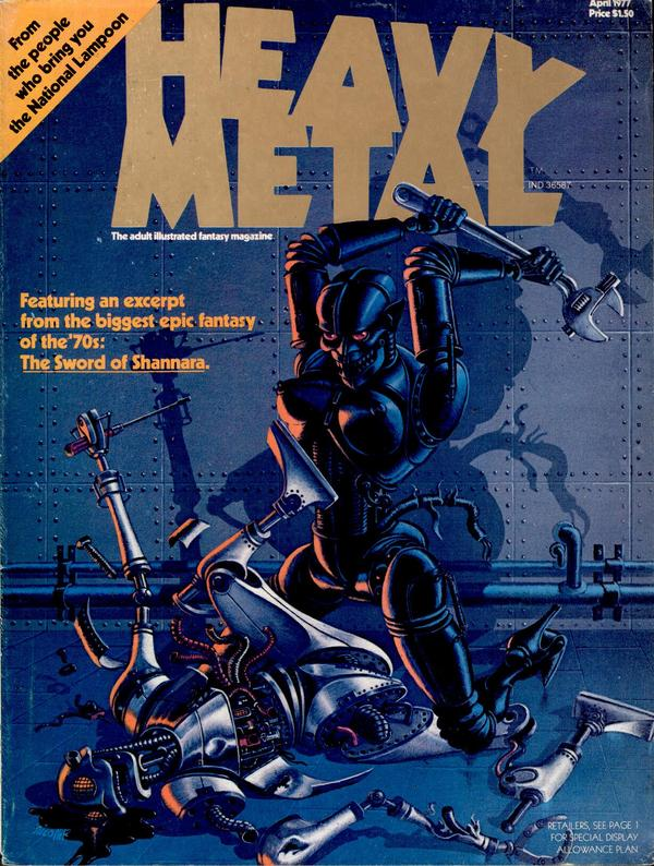 Heavy Metal issue one cover