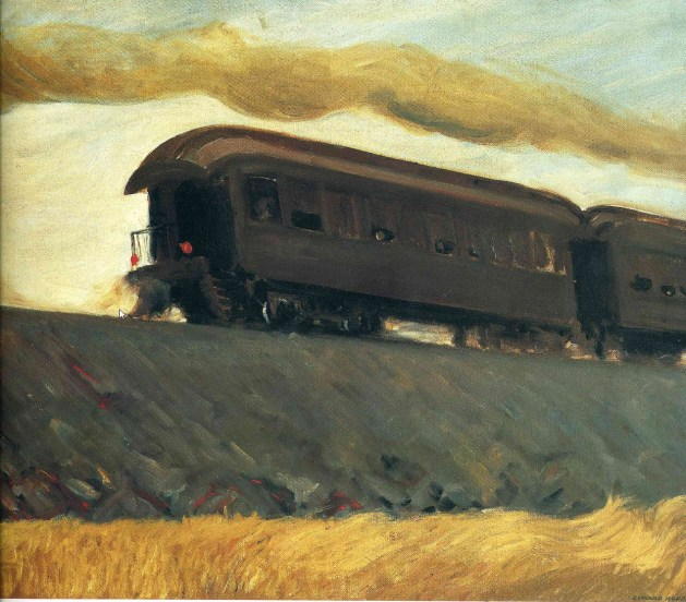 Edward Hopper - Railroad Train - 1908