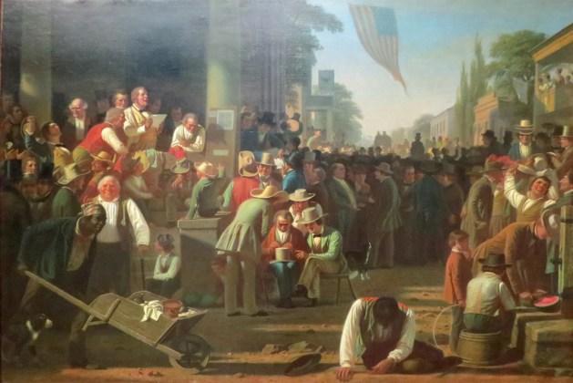 George Caleb Bingham-The Verdict of the People -1854-55